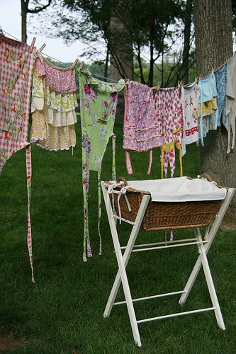 LAUNDRY HANGING ON LINE 02 19 2016
