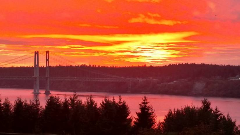 SUNSET AND NARROWS BRIDGE 10 2015